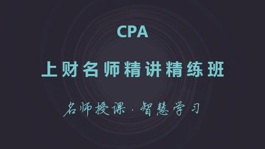 CPA上财名师精讲精练班